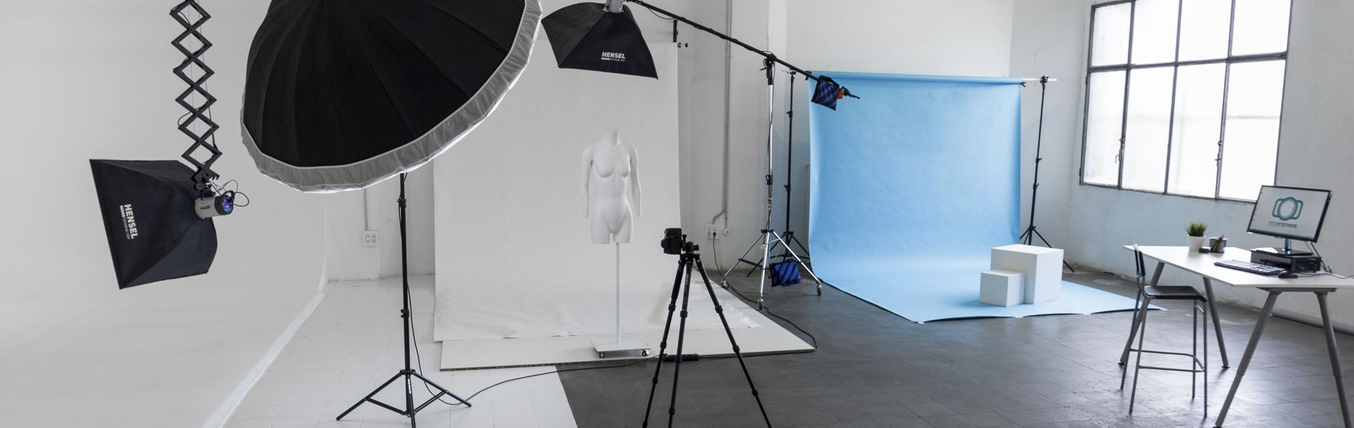 4 platós para fotografía con modelos y ghost mannequin
