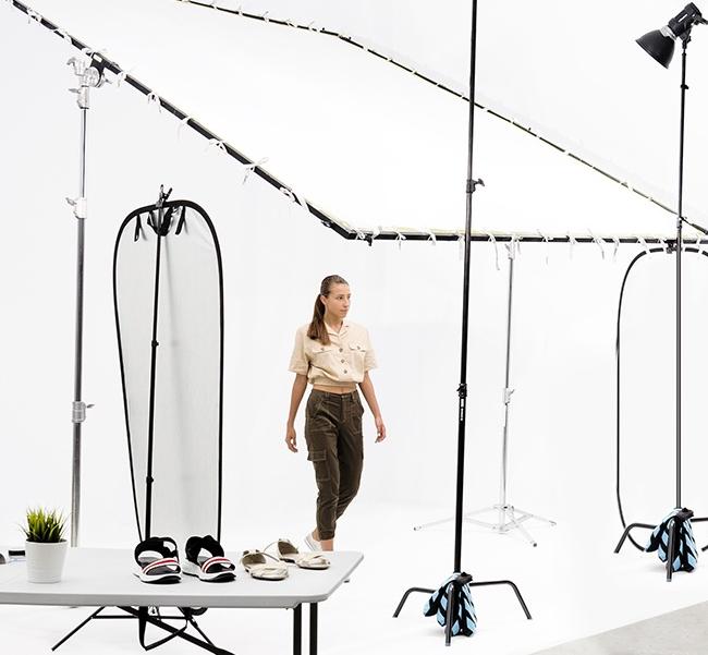 Fotografía de moda ecommerce con modelo